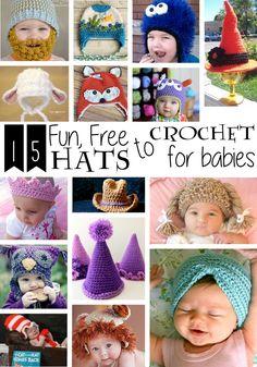 15 Fun, Free Hats to Crochet for Babies | Imagine