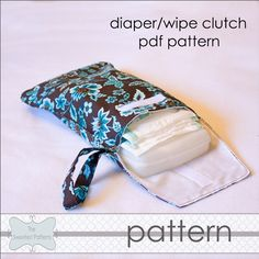 Diaper/wipe clutch. Great to stash in the car or purse for quick trips