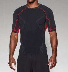 0fa20f0231f75 Men s Iron Man UA Seamless Compression Shirt Masculino, Roupas Para  Ginástica, Roupa Atlética,