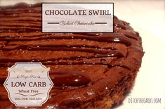 chocolate swirl baked cheesecake | ditchthecarbs.com