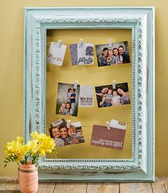 DIY Americana Decor #ChalkyFinishPaint Clothespin FRAME @craftwarehouse @DecoArt_Inc