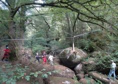 Gorges de Lanrivain: Les images du sauvetage du cerf