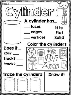 3D shape worksheets - I LOVE THESE