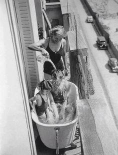 Paris sous la canicule en 1937
