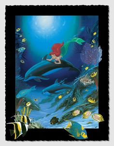 """Ariel's Dolphin Ride"" by Wyland 