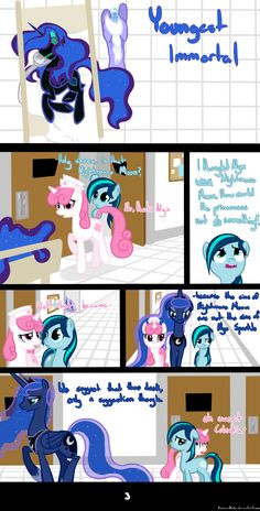 Youngest Immortal by RussianKolz on DeviantArt My Little Pony Comic, My Little Pony Pictures, Mlp My Little Pony, My Little Pony Friendship, Princess Luna, Royal Princess, Good Cartoons, Little Poni, Mlp Comics