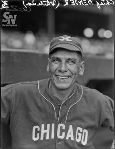 Charles Bender, ( Was a member of the Ojibwe tribe.) His father was German and his mother was part Chippewa. The only Native known  in baseball's Hall of Fame. Chicago White Sox ,1926.