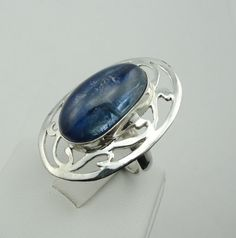 Beautiful Blue Kyanite Cabochon In A by rubysvintagejewelry