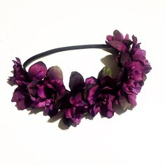 Purple flower crown / infant flower crown / baby flower crown / bridesmaid / flowergirl / wine colored flower crown /toddler fashion