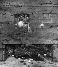 Beksinski, 1975, 87 x 73 cm
