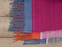Fair Isle Stripe Blanket/Shawl with Tassels, £120.00