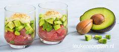 Voorgerecht - Tonijn avocado amuse. Video uitleg van Herman den Blijker: http://youtu.be/56Gropj54WM