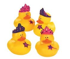 Princess Duckies for the favor boxes