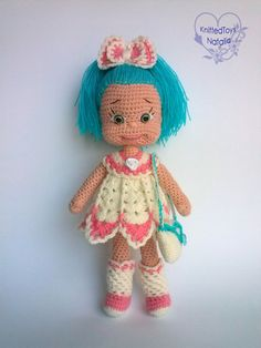 Amigurumi crochet dolls Sweet girl doll in by KnittedToysNatalia