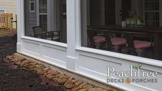 Gable Porches | Peachtree Decks & Porches Internal Design, Building Code, Site Visit, Decks And Porches, Can Design, Building Materials, Cabin, Outdoor Decor, Construction Materials
