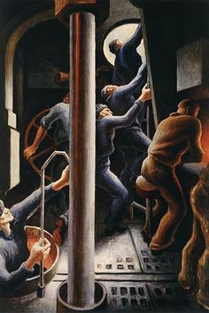 The Chrysler Museum of Art hosts an exhibition of paintings produced by Benton during WWII, exploring how the artist's experience of the conflict inspired his work Harry Truman, American Realism, American Artists, Diego Rivera, Jackson Pollock, Mark Riddick, Kansas City, Chrysler Museum, Art Thomas