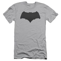 Batman vs Superman Batman Logo Adult Slim Fit Tee - Silver