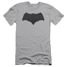 Batman vs Superman Batman Logo Adult Slim Fit Tee - Silver
