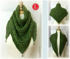 Loom Knit Triangle Shawl Pattern and Video