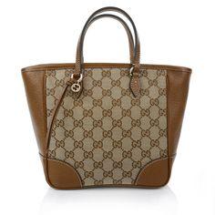 Bag for business: Gucci Bree Original GG Canvas Top Handle Bag in Cognac www.fashionette.de