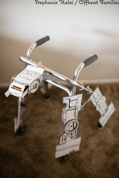 Parenting doen right: An AT-AT walker designed for a four-year-old after surgery