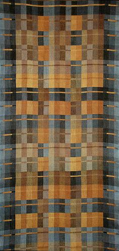 Handwoven linen doublcloth hanging  by Theo Wright, via Flickr