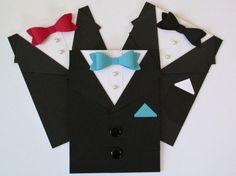 Tuxedo Card for Groomsman Best Man Ring Bearer by 2CheekyChicks