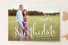 Modern Romance Save the Date Cards by Melanie Severin at minted.com