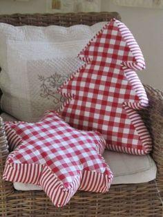 Kissen Weihnachten Stern und Tannenbaum christmas pillows