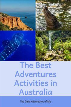 Top 10 Outdoor Activities in Australia - The Daily Adventures of Me Visit Australia, Australia Travel, Australian Crocodile, Surf Pro, Travel Around The World, Around The Worlds, Kangaroo Island, Exotic Beaches, Adventure Activities