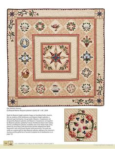 Marge's quilt in Elly Sienkiewicz's Beloved Baltimore Album Quilts: 25 Blocks, 12 Quilts ... - Elly Sienkiewicz - Google Books