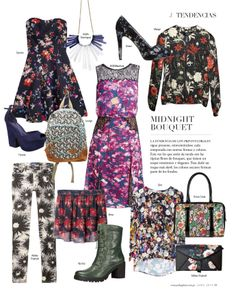 Tendencias: Midnight Bouquet #Fashion #Floral #Style #WinterFashion #JockeyPlaza #RevistaJ #Invierno #Flores