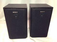 SONY set 2 Home Theater Surround Sound Bookshelf Speakers SS-MSP69 #Sony