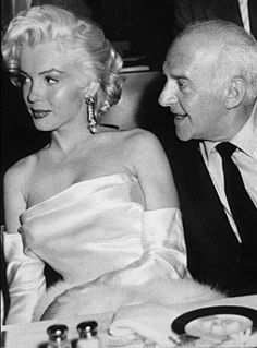 Marilyn and Walter Winchell at Winchell's birthday party celebration at Ciro's Nightclub, May 13th 1953.