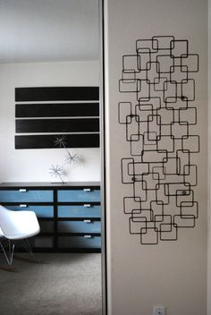 Retro Modern Metal Sculpture Art Abstract Mid Century Contemporary Wall Decor Modernist 50s 60s by Petrykowski Artworks