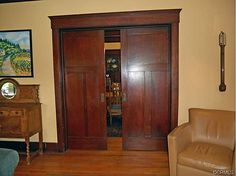 Craftsman/Arts & Crafts style pocket doors in a 1911 house