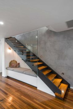 Modern Staircase Design Ideas - Stairs are so common that you don't provide a reservation. Have a look at best 10 instances of modern staircase that are as stunning as they are . Home Stairs Design, Modern House Design, Home Interior Design, Modern Stairs Design, Contemporary Design, Stair Design, Railing Design, Stairs For Home, Stair Railing