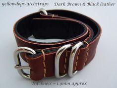 Hand made brown leather NATO ZULU watch by yellowdogwatchstraps