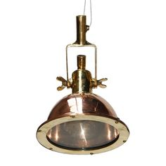 Buy online Manamah small copper cargo light By mullan lighting, swivel brass pendant lamp design Mike Treanor