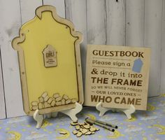 Baby Shower/Personalized Guest Book/Heart Drop Guest Book/Bottle/Wood Shapes/Bottle/Baby Guest Book/Set/Guestbook/FREE SHIPPING