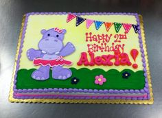 Hippo Birthday Party Sheet Cake by Stephanie Dillon, LS1 Hy-Vee