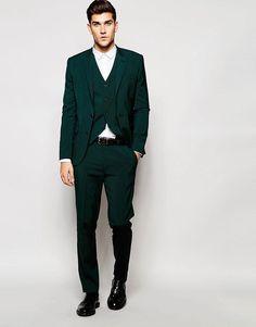 Image 1 of Noose & Monkey Green Tartan Suit In Super Skinny Fit ...