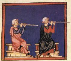 Spain-Alfonso X (1221-1285) Cantigas  http://www.pbm.com/~lindahl/cantigas/images/cantiga_10.jpg