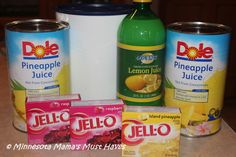 Jell-O Punch Recipe! Make ahead and freeze ~ Super Easy! - Minnesota Mama's Must Haves