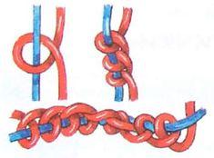 Схема фенечки из шнурков
