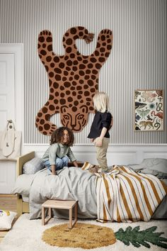 'Safari Tufted Rug - Leopard by Ferm Living. Kids Room Design, Design Bedroom, Kid Spaces, Kids Decor, Boy Decor, Color Trends, Kids Bedroom, Lego Bedroom, Decor Pillows