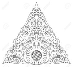 Sunflower In Triangle Pattern Artistic Of Thai Royalty Free Cliparts, Vectors, And Stock Illustration. Image 14255512.