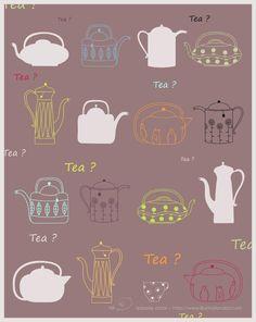 poster - tea pots