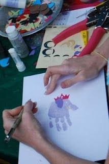 elephant handprint in the making...