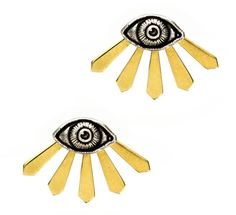 Pamela Love Illuminas Earrings- Sterling Silver w/bronze. These are super high up on my list